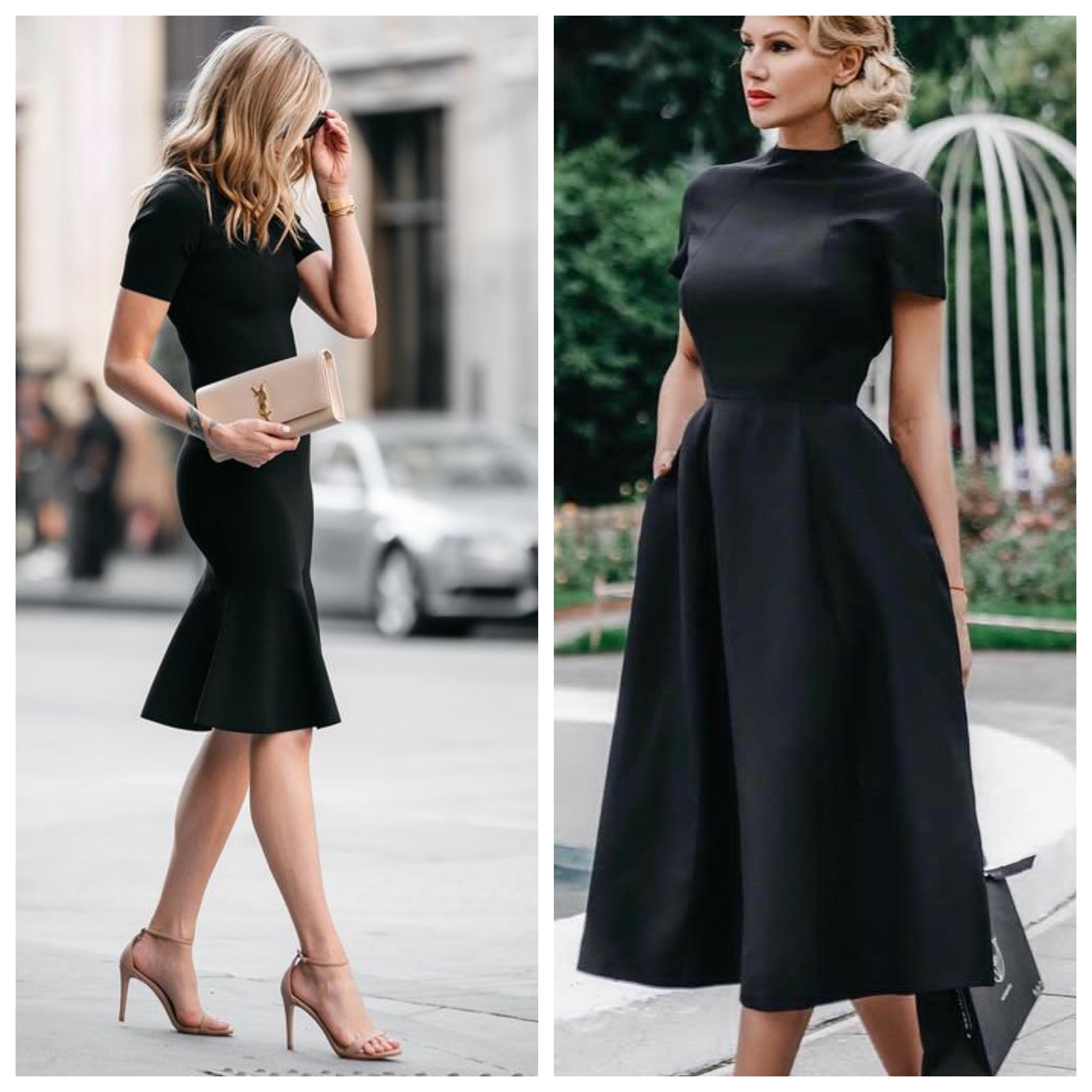 Маленькое черное платье в офисном стиле