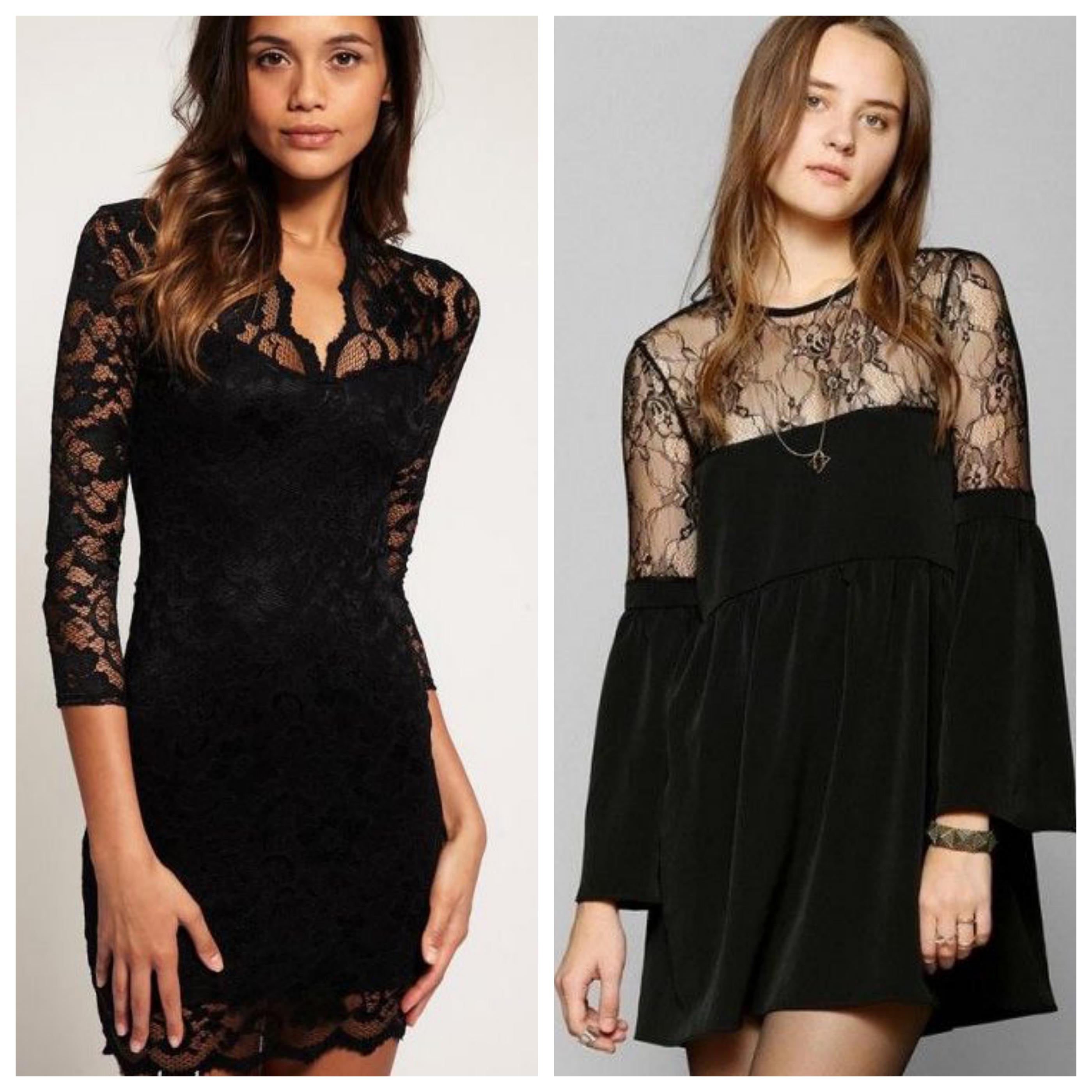 Маленькое черное платье в вечернем стиле