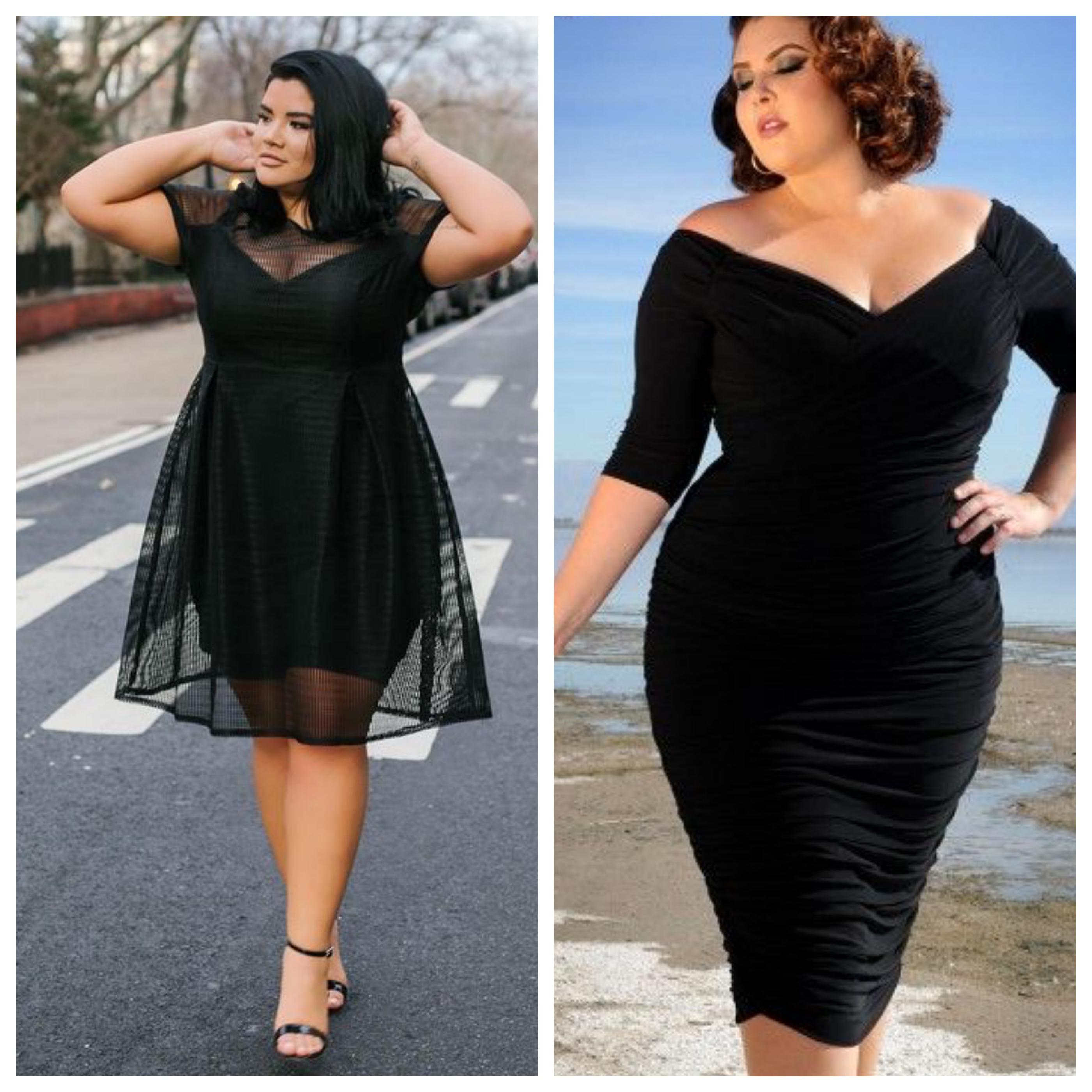 Маленькое черное платье для полных женщин