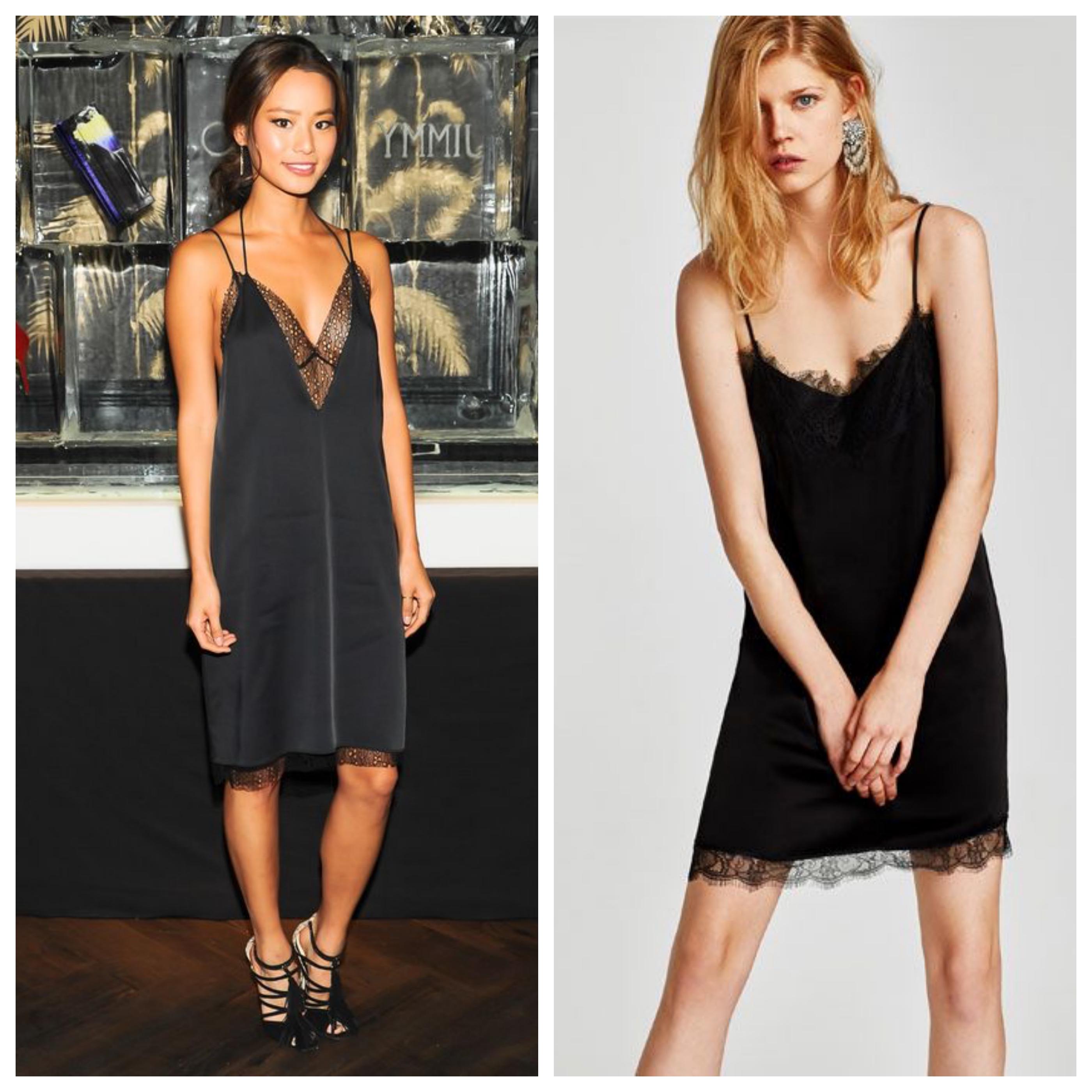 Маленькое черное платье в бельевом стиле