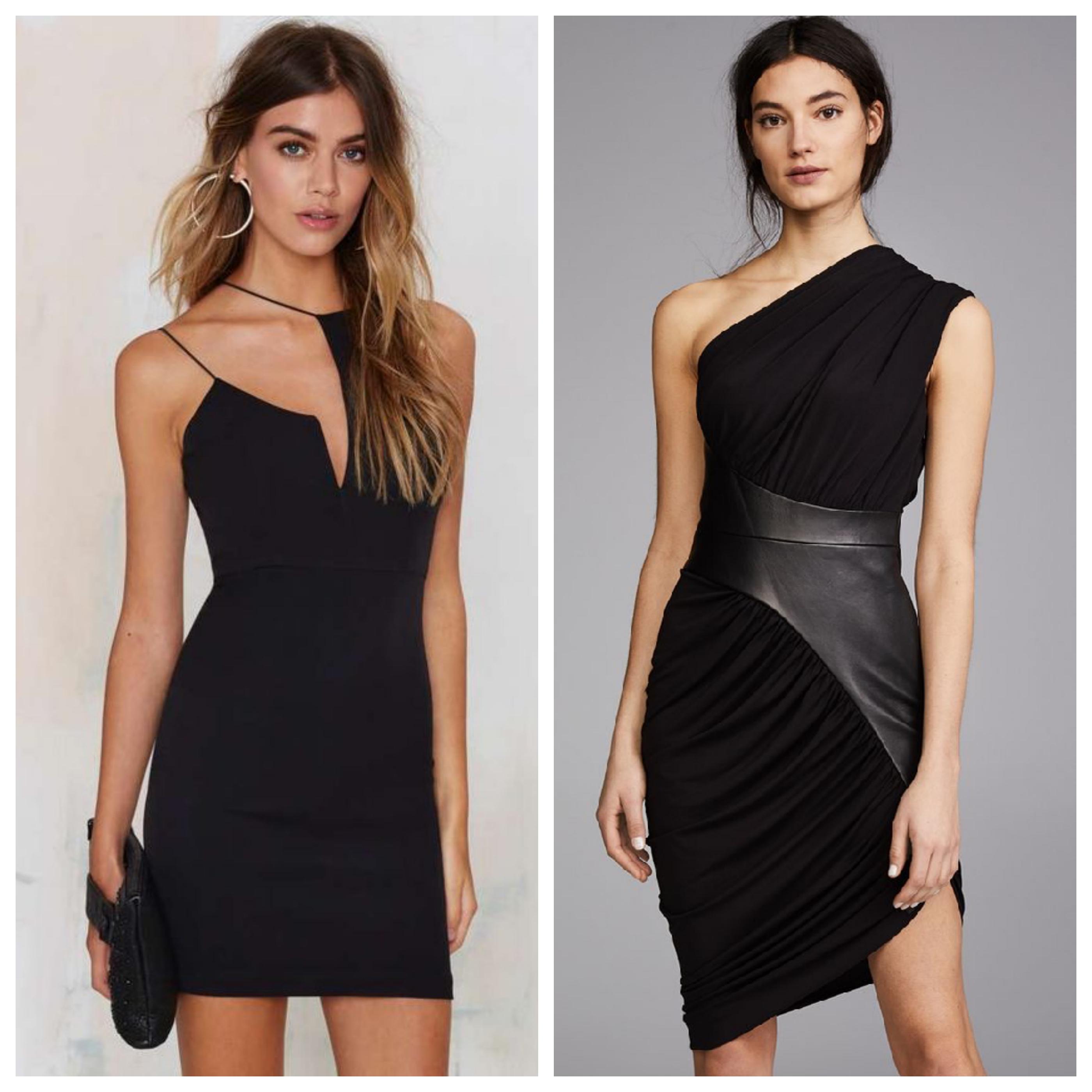 Маленькое черное платье вечернее