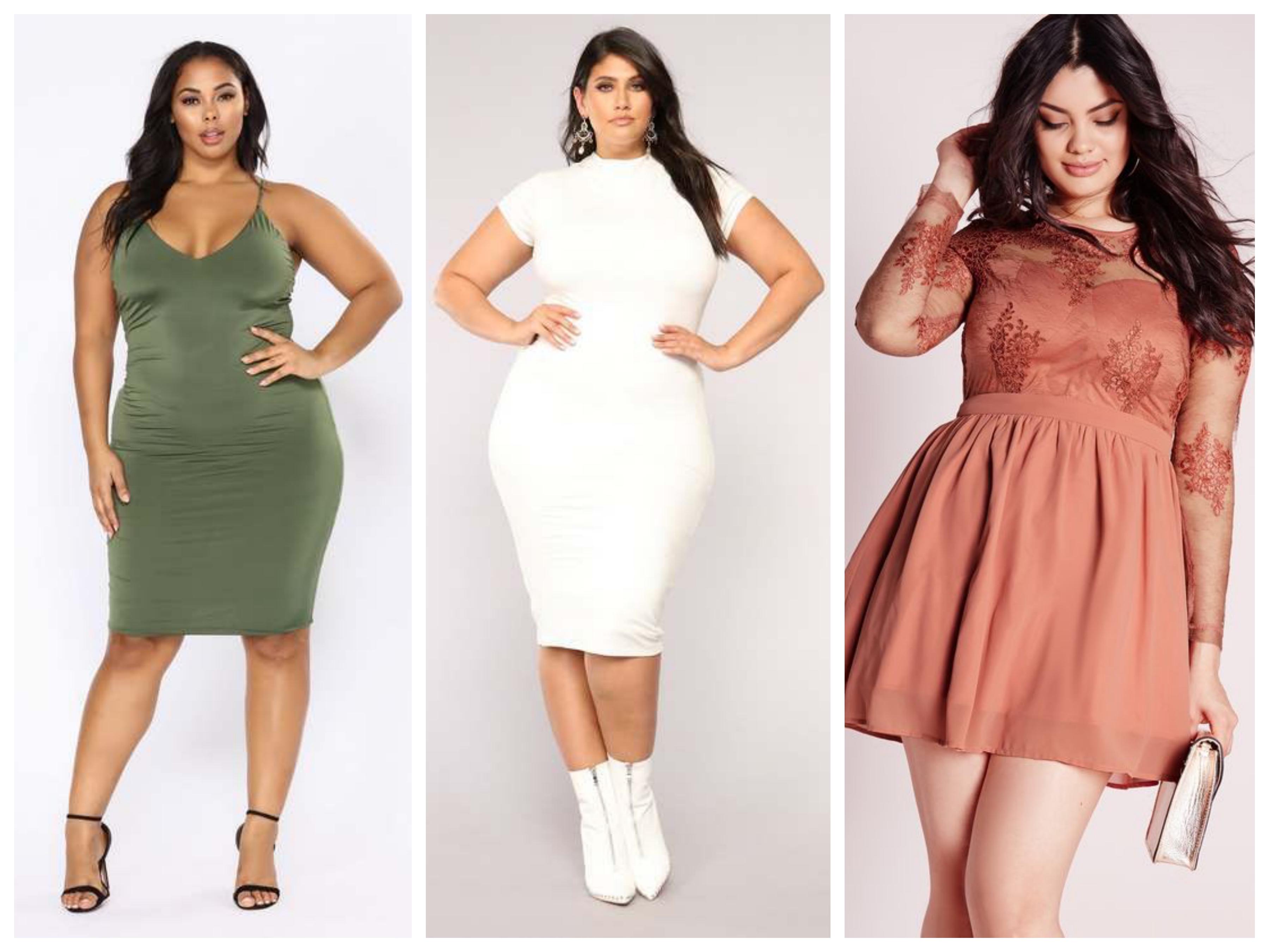 Как выбрать цвет платья для полных